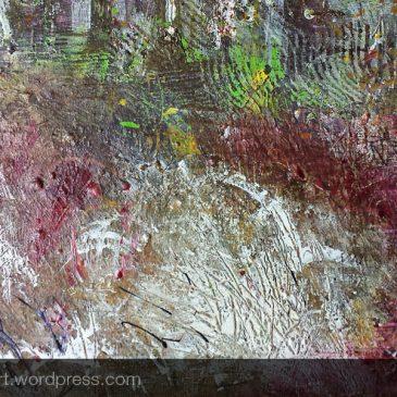 Progress: November woods painting