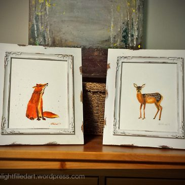 Woodland Nursery part 4: Watercolour paintings