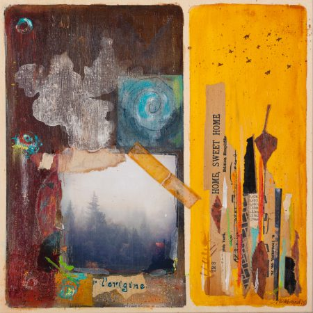 mixed media painting by Nancy Hilebrand