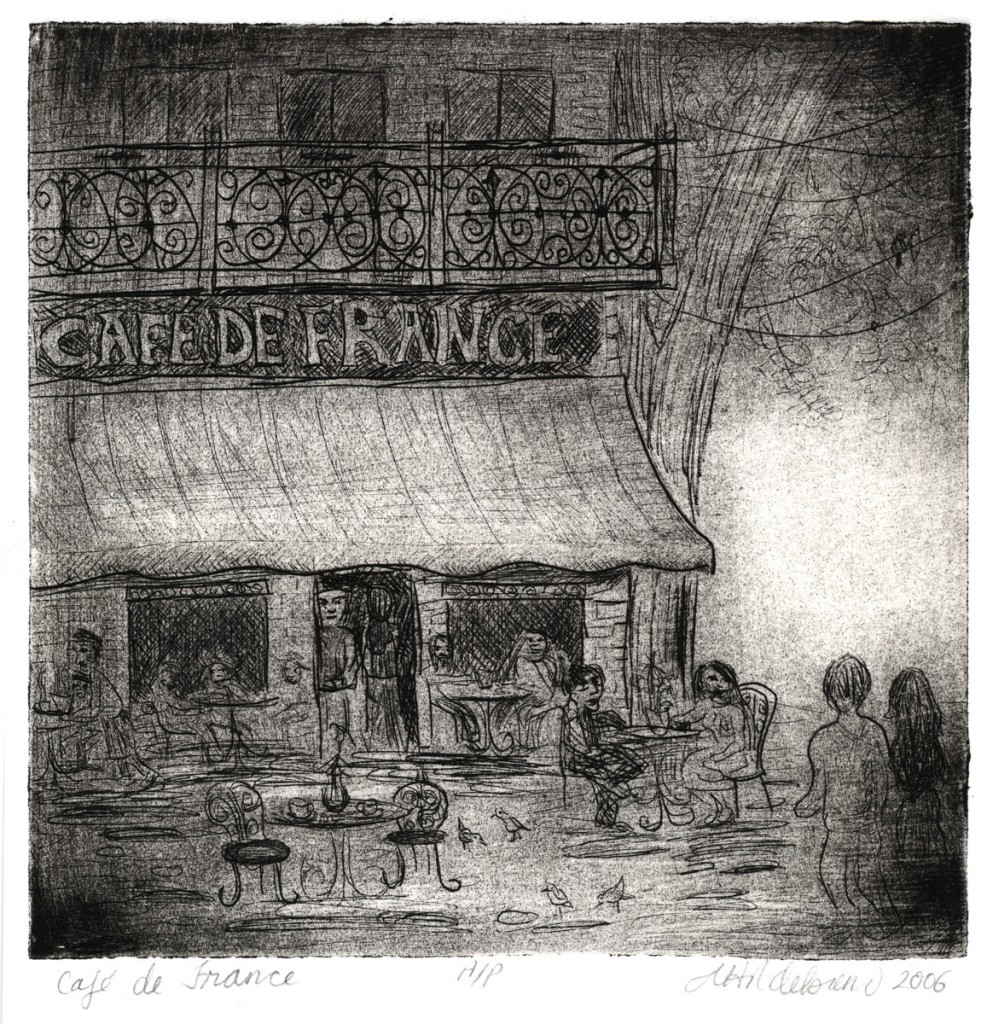 CAFE DE FRANCE PRINT