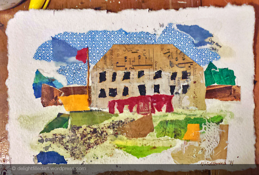 COLLAGE 3 – BIG HOUSE (sold)